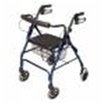 Lumex Walkabout Lite Four-Wheel Rollator, 300lb Weight Capacity, Blue - The Lumex Walkabout Lite Four-Wheel rollator offers a comfortabl